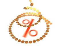 Wachstum von Prozenten Stockbild
