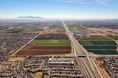 Wachstum westlich von Phoenix, Arizona Stockbilder