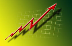 Wachstumdiagramm Lizenzfreie Stockfotografie