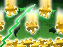 Wachstumpreis des Goldes Lizenzfreies Stockbild