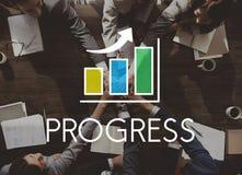 Wachstums-Balkendiagramm-Konzept der wirtschaftlichen Entwicklung Stockfoto