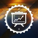 Wachstums-Konzept auf Dreieck-Hintergrund. Lizenzfreies Stockfoto