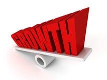 WACHSTUMS-Text-Wortsymbol auf Balance wachsen heran Lizenzfreie Stockfotos