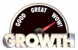 Wachstums-Zunahme verbessern die Spurhaltung des Erfolgs stock abbildung