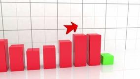 Wachstumsdiagramm mit Pfeil stock abbildung