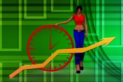 Wachstumsillustration der Frauen 3d Stockfotos