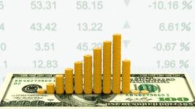 Wachstumsrate von Währungsdollar auf Börse stock video footage