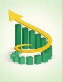 Wachstumstabdiagramm Lizenzfreies Stockfoto