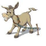 Wacht Donkey royalty-vrije illustratie
