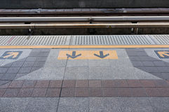 Wacht op de Trein stock fotografie