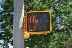 Wacht verkeersteken. Stock Afbeelding
