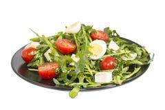 Wachtelei-Salatbild mit Beschneidungspfad Lizenzfreies Stockbild