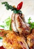 Wachteln gebratenes Fleisch Stockfotografie