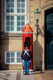 Wachten van eer in Kopenhagen Stock Afbeeldingen