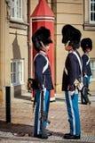 Wachten van eer in Kopenhagen Stock Foto