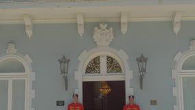 Wachten van het Cetinje de Blauwe Paleis stock video
