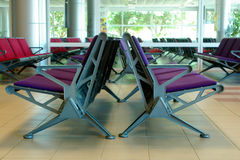 Wachtend gebied in luchthaven Royalty-vrije Stock Foto's
