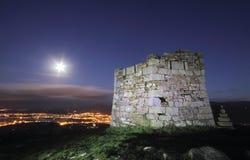 Wachturm auf dem Camino De Santiago. Lizenzfreies Stockfoto