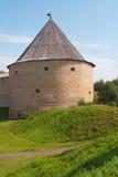 Wachturm der Festung in altem Ladoga Stockbild