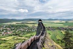 Wachturm am Schloss von Boldogko in Ungarn Lizenzfreie Stockfotografie