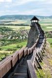 Wachturm am Schloss von Boldogko in Ungarn Lizenzfreies Stockbild