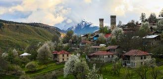 Wachturm in Svaneti Georgia Stockbilder