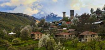 Wachturm in Svaneti Georgia Stockfoto