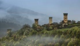 Wachturm in Svaneti Georgia Stockfotos