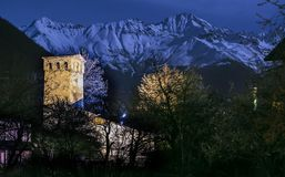 Wachturm in Svaneti Georgia Lizenzfreies Stockfoto