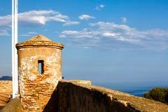 Wachturm von Castillo de Gibralfaro Stockbild