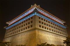 Wachturmdongguan-Mann-Stadt-Wand Peking China Stockbild