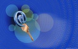 Wachtwoord voor een ingang in e-mail Stock Illustratie