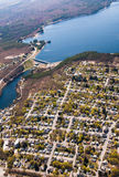 Wachusett Dam Aerial View Royalty Free Stock Photography