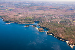 Wachusett Reservoir aerial Stock Images