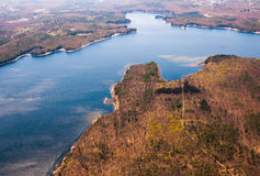 Wachusett Reservoir aerial Royalty Free Stock Photo