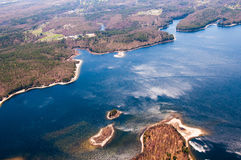 Wachusett Reservoir aerial Royalty Free Stock Photos