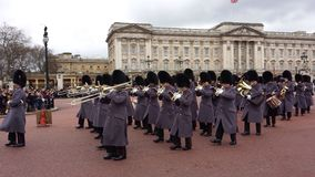 Wachwechsel Buckingham Palace London, Großbritannien Stockfotografie