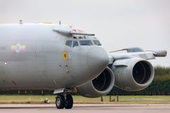 Wachzerstreute Frühwarnung AWACS-Flugzeuge ZH101 Royal Air Forces RAF Boeing E-3D an Royal Air Force-Station Waddington Lizenzfreie Stockfotografie