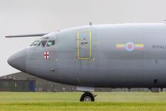 Wachzerstreute Frühwarnung AWACS-Flugzeuge ZH101 Royal Air Forces RAF Boeing E-3D an Royal Air Force-Station Waddington Stockfotografie