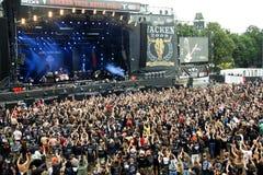 wacken festivalgermany heavy metal 2009 royaltyfria bilder
