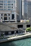 Wacker zu Riverwalk Lizenzfreies Stockbild
