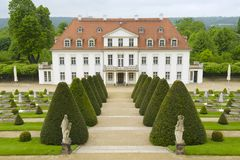 Wackerbarth castle in late spring, Radebeul, Germany royalty free stock image