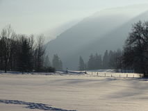 Wackersberg en el invierno Foto de archivo