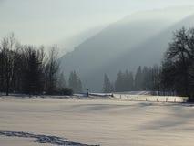Wackersberg i vintern Arkivfoto