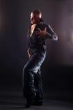 Wacking man cool dancer Stock Images