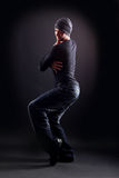 Wacking man dancer Royalty Free Stock Photo