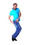 Wacking man dancer Stock Photo