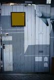 Wacky construction site door Stock Images