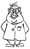 Wacky Doctor. A cartoon drawing of a wacky doctor Stock Images