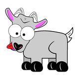 Wacky goat cartoon character Royalty Free Stock Photography